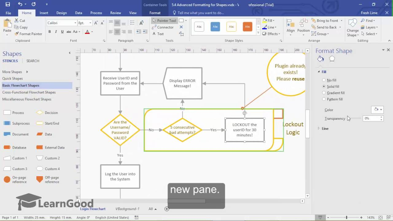 Microsoft Visio Tutorial - Advanced Formatting for Shapes - YouTube