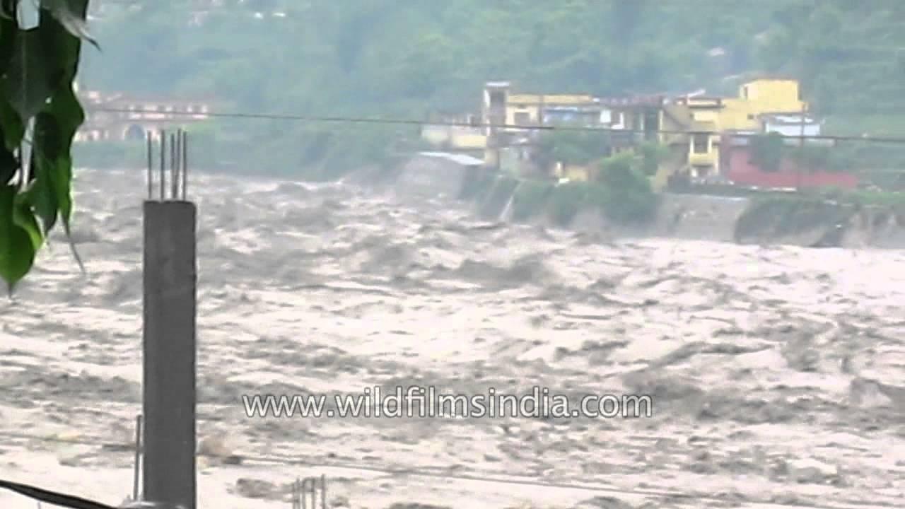 Heavy Flow Of River Ganga Due To Flood Water In Gyansu