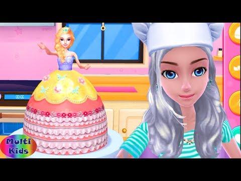 Permainan Anak Perempuan Main Masak Masakan Anak Membuat Kue Barbie Lucu Youtube