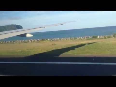 Décollage Air Austral B777-200LR piste 34 à Mayotte