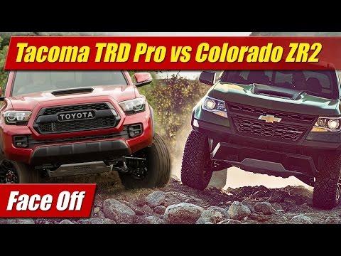 Face Off: Toyota Tacoma TRD Pro vs Chevrolet Colorado ZR2