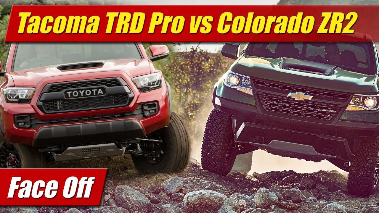 Face Off Toyota Tacoma Trd Pro Vs Chevrolet Colorado Zr2 Youtube