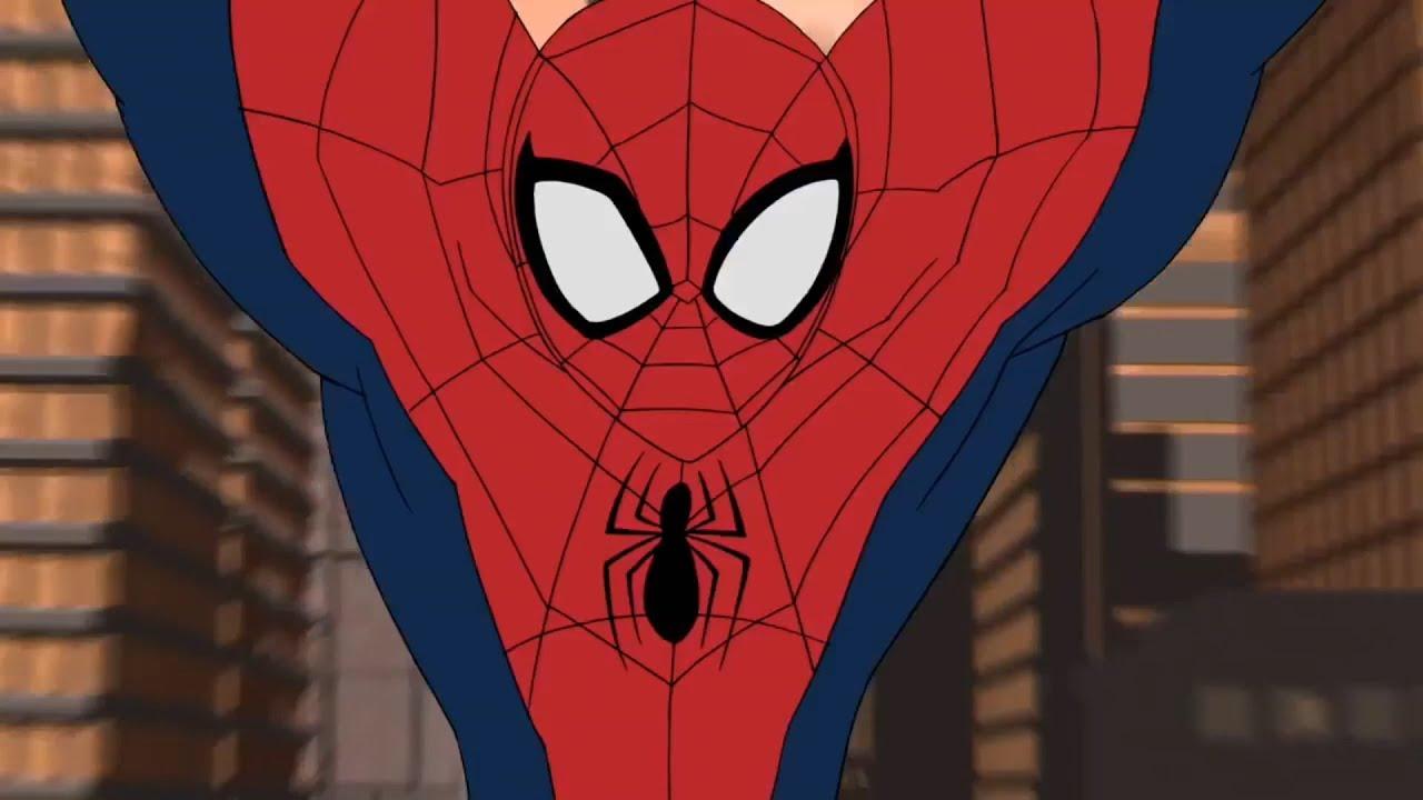 картинки человек паук мультик