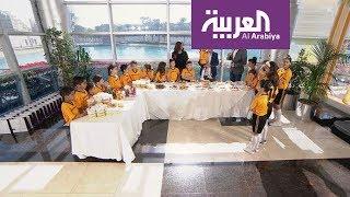 أطفال مباراة السعودية وقطر في صباح العربية