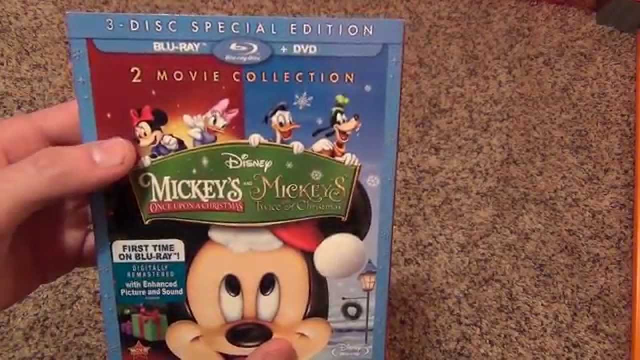 Mickey Mouse Twice Upon A Christmas Dvd.Disney Mickey S Once And Twice Upon A Christmas Blu Ray Review And Unboxing
