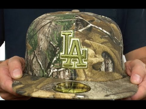 c50285f814d Dodgers  MLB TEAM-BASIC  Realtree Camo Fitted Hat by New Era - YouTube