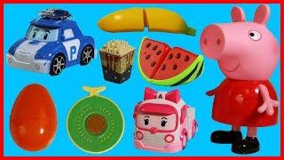 粉紅豬小妹佩佩豬 Peppa Pig 和冰箱玩具開出奇蛋