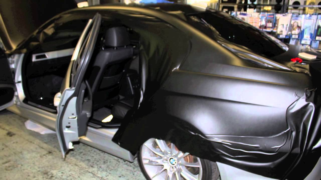 Bmw 335i Convertible >> BMW e91 Matt Black vinyl wrap by bassboxcaraudio - YouTube