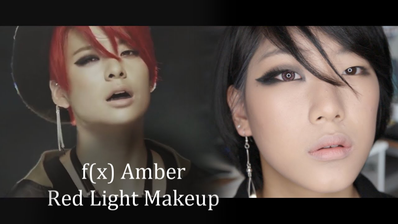 TUTORIAL: f(x) 에프엑스 Red Light - Amber Makeup ★ 앰버 레드라이트 ... F(x) Amber Red Light Live