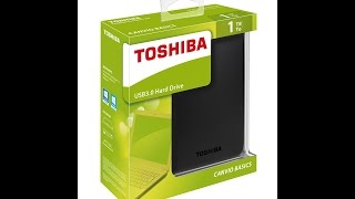 Toshiba Canvio Basic 1 TB Hard Drive Unboxing