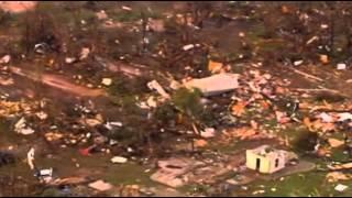 Raw: Heavy Tornado Damage in Shawnee, Okla