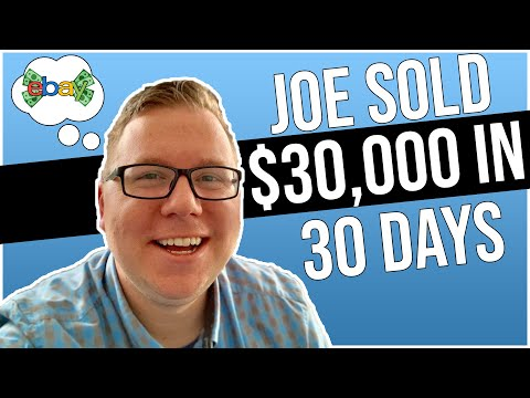 How Joe Did $30,000 In Sales His First Month With Manual Ebay Dropshipping