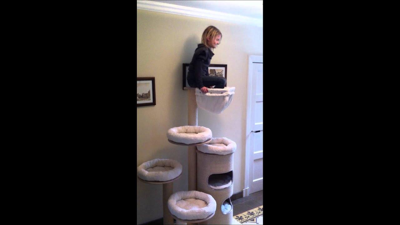 pet fun kratzbaum inga mit neuer waschbarer h ngematte youtube. Black Bedroom Furniture Sets. Home Design Ideas