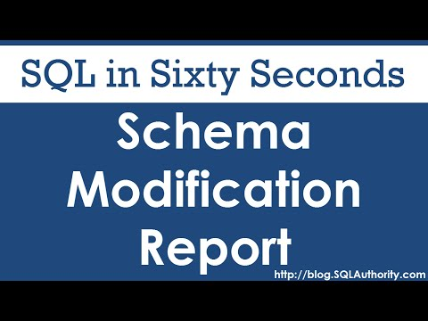 SQL SERVER - Schema Change Reports  - SQL in Sixty Seconds #078 hqdefault