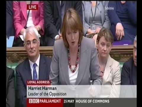 Queens Speech Debate Harriet Harman Humiliates David Cameron 2010