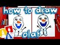 How To Draw Olaf From Disney Frozen