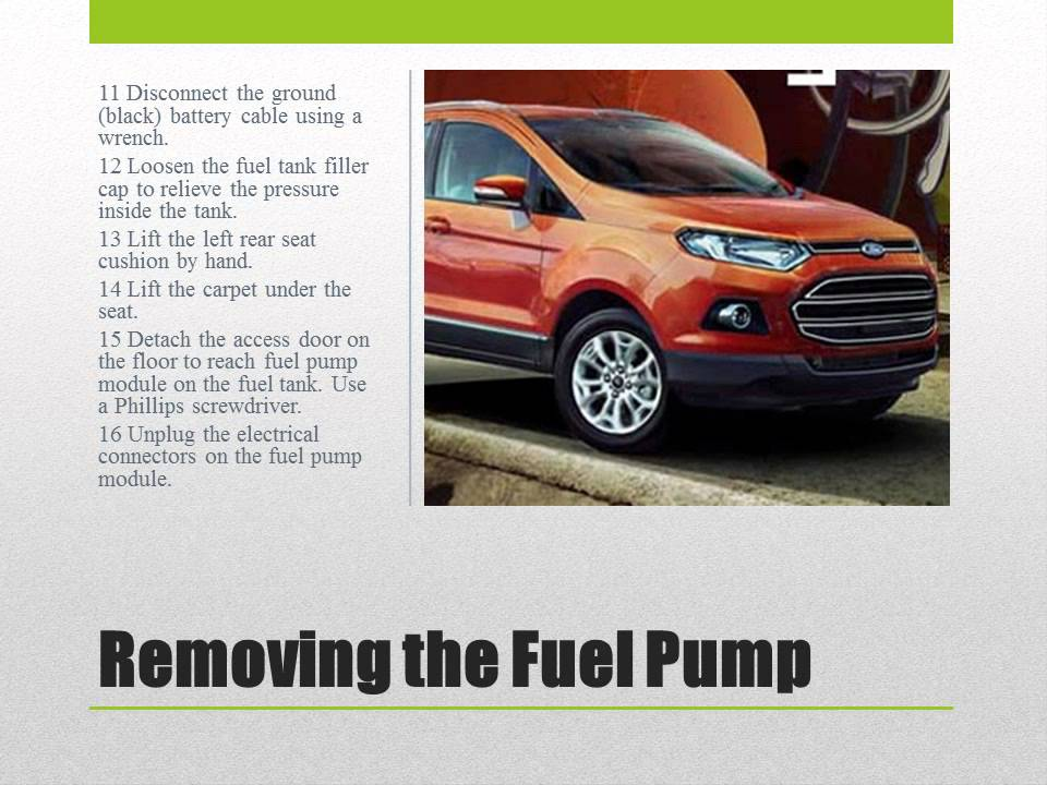 How To Install A Fuel Pump On Ford Escape