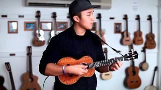 """Kris Fuchigami - """"Can't Take My Eyes Off You""""- Ukulele Instrumental"""
