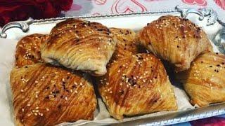 Qatlama somsa yangi usulda / Слоёная самса uzbek taomlari