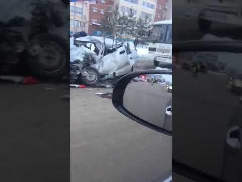Смертельная авария 11.01.18 Альметьевск