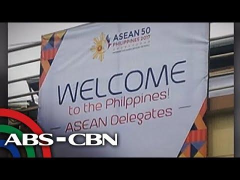 Bandila: ASEAN tarpaulins na may maling baybay ng 'Philippines,' pinabaklas