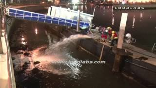 Maintenance Barge Sinking / Long Beach   RAW FOOTAGE