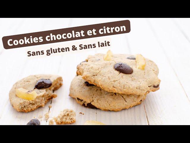 🍪 COOKIES AUX PEPITES DE CHOCOLAT ET CITRON SANS GLUTEN 🍪