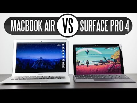 "Microsoft Surface Pro 4 vs 2015 13.3"" Macbook Air - Which One Is Better?"