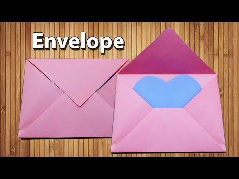 Origami Envelope Making With Paper [Without Glue Tape and Scissors] at Home - Easy DIY Crafts