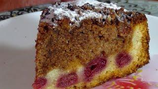 Венский пирог с вишнями