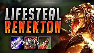 FULL LIFESTEAL RENEKTON! HOW BUSTED IS THIS BUILD? FULL LIFESTEAL RENEKTON TOP! - (LoL Best Moments)