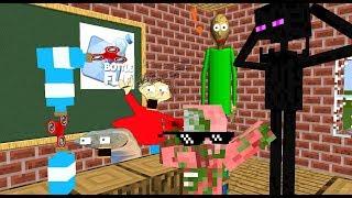 Monster School: BALDI'S BASIC JOINED  MONSTER SCHOOL! -Minecraft Animation
