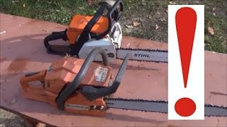 видео Сравненительный обзор бензопил STIHL MS180, Partner P340, Husqvarna 236