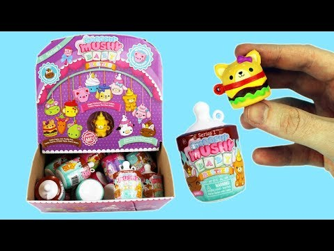 Squishies Opening a Full Box of Smooshy Mushy Baby Besties Baby Squish Bottles