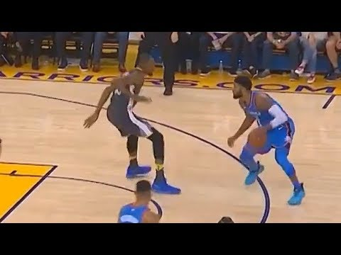 Paul George Crosses Kevin Durant Over and Hits the 3 Pointer in His Face! Warriors vs Thunder