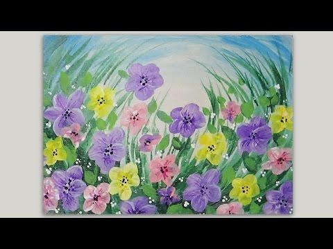 Spring Flowers Acrylic Painting Lovespringart Youtube