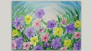 Spring Flowers | Acrylic Painting | #LoveSpringArt