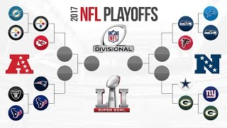 NFL DIVISIONAL PLAYOFF PREDICTIONS! UPDATED AFC & NFC CHAMPIONSHIP PREDICTIONS! NFL PLAYOFF BRACKET!