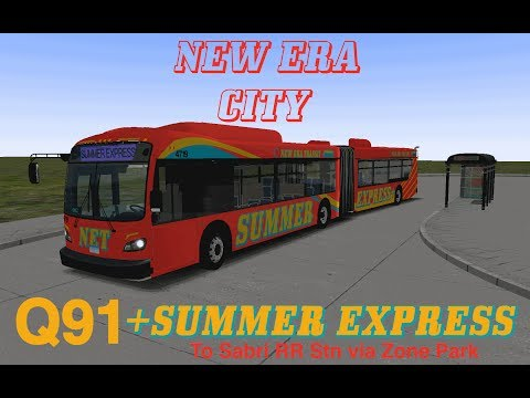 OMSI 2: New Era City Route Q91 Summer Express To Sabri RR Stn