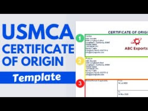 How To Create A USMCA Certificate Of Origin Form