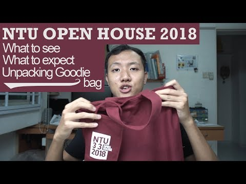 NTU Open House 2018 l Unpacking goodie bag, what to see, and what you might miss!