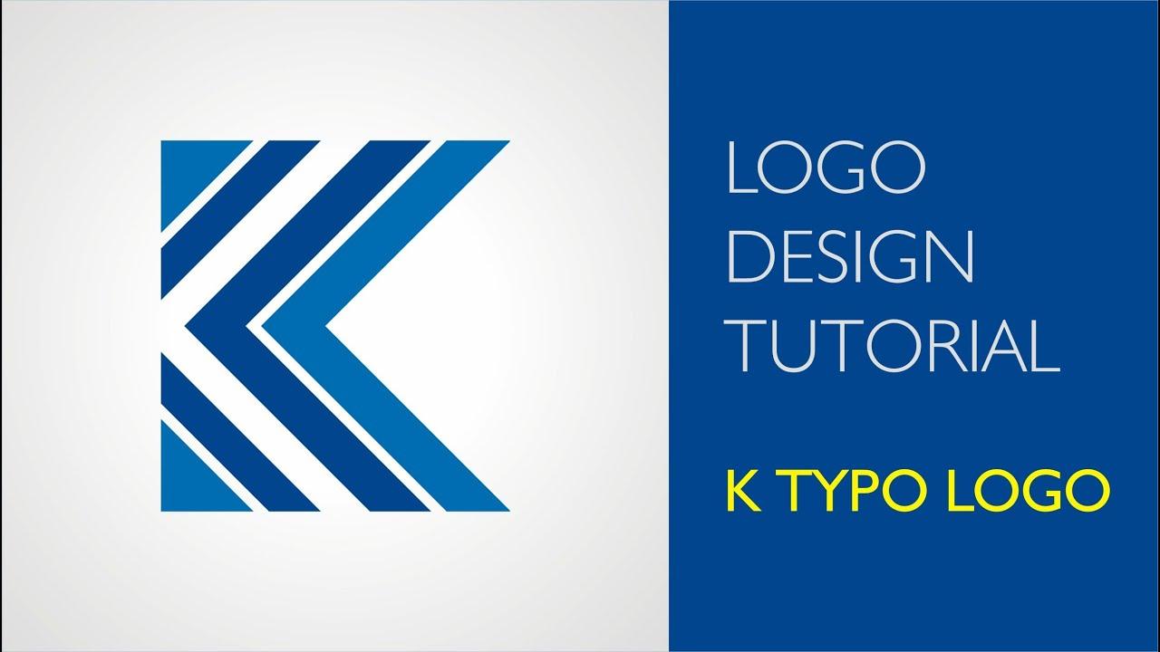 Logo design tutorials - K logo design - YouTube