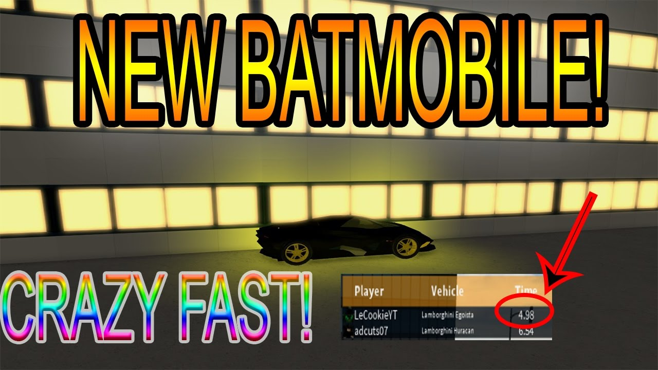 [Roblox: Vehicle Simulator] NEW BATMOBILE?!? ( NEW FASTEST CAR )