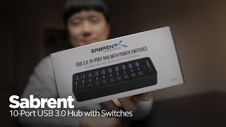 Sabrent 10-Port USB 3.0 Hub with Switches - So Useful!