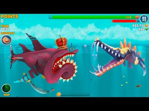 Hungry Shark World Buzz Helicoprion Android Gameplay #3