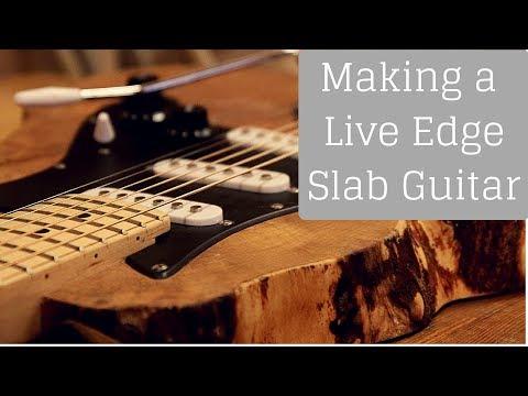 Making a Live Edge Slab Guitar!