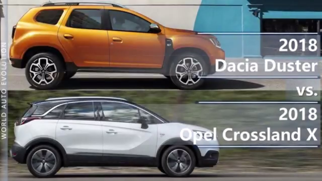 2018 dacia duster vs 2018 opel crossland x technical comparison youtube. Black Bedroom Furniture Sets. Home Design Ideas