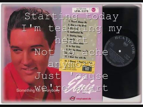 "Elvis Presley  ""Starting Today"""