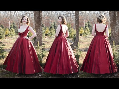 Making A 1950s Evening Gown Vogue 191 Youtube