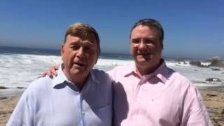LGBT Wedding at Little Corona Del Mar Beach of Jim and Bruce